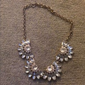 Gold Bauble clear Chrystal necklace